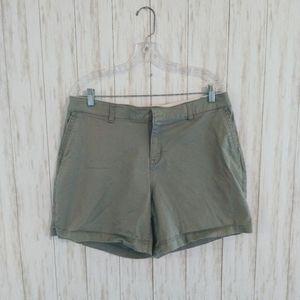 🌹Womens Lane Bryant Khaki Stretch Shorts 14(#203)